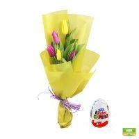Тюльпановый микс + киндер в подарок