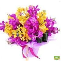 Заказать букет цветов «Яркая карамель» онлайн