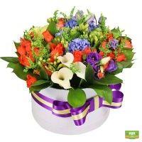Заказать красивый букет «Яркие краски» в интернет-магазине Флора2000.ру. Доставка!