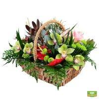 Букет «Юбилейная корзина цветов», корзина с цветами