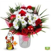 Зимний букет + Шоколадный Дед Мороз