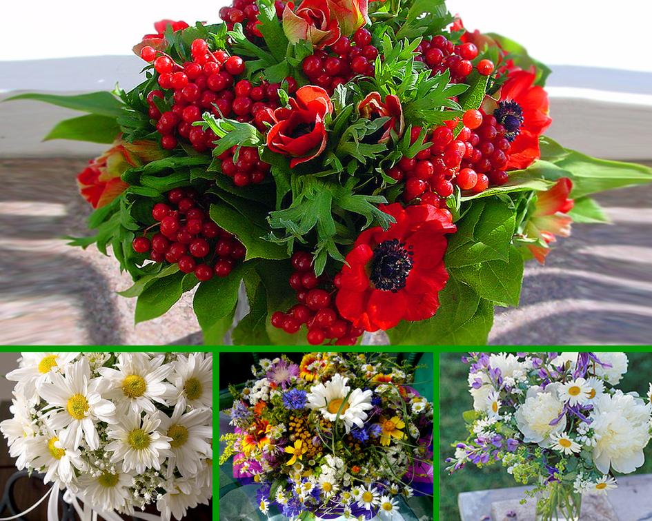 Большой букет из полевых цветов - лучшие фото 51