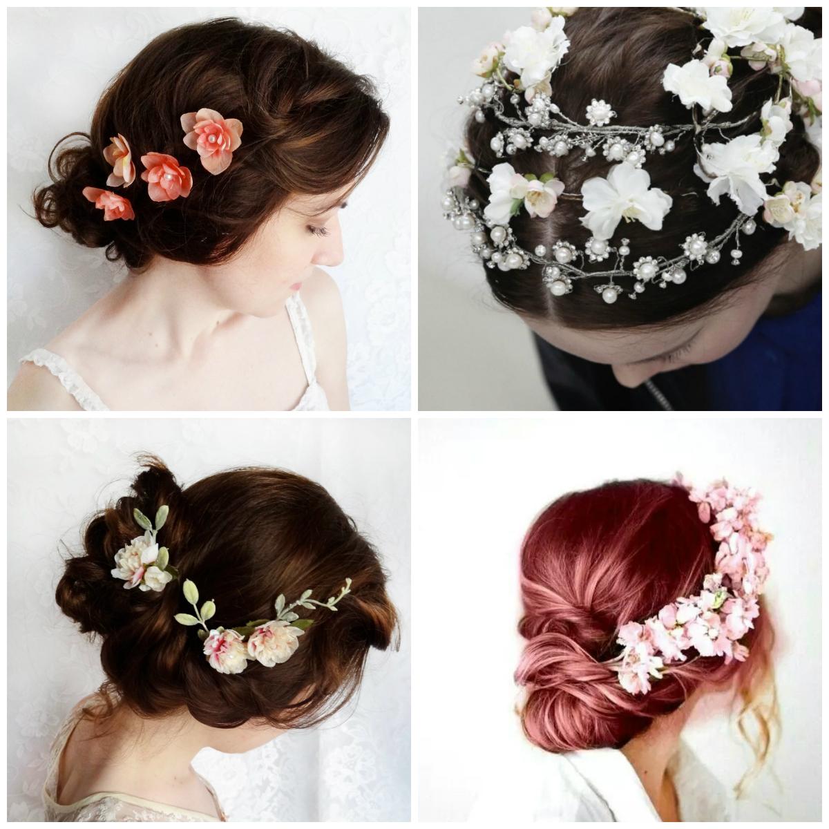 Заколки для волос с живыми цветами