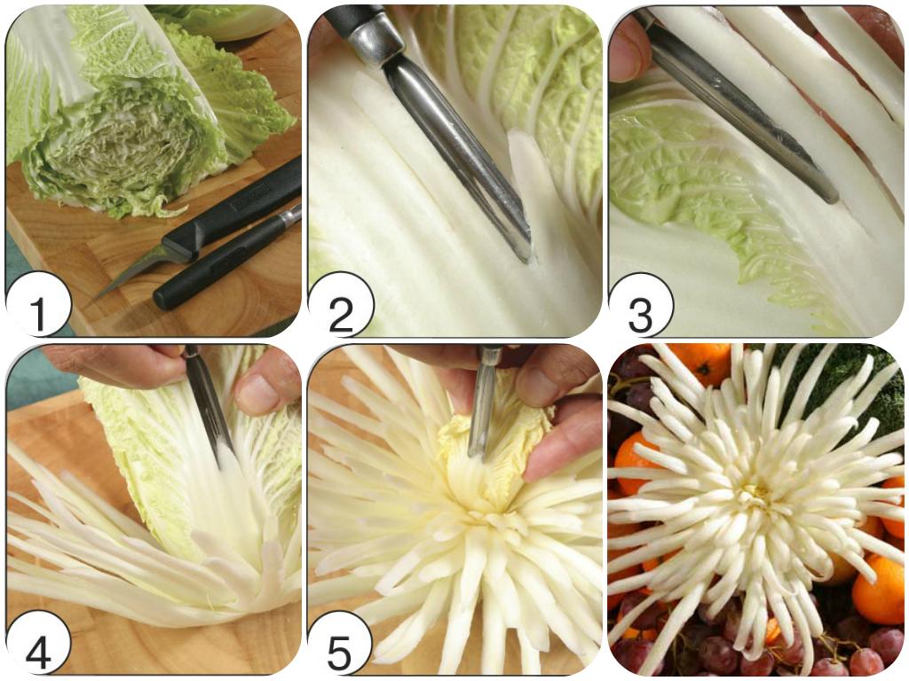 Украшения из овощей пошаговые