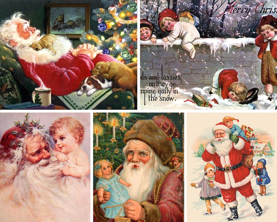 История рождественская открытка