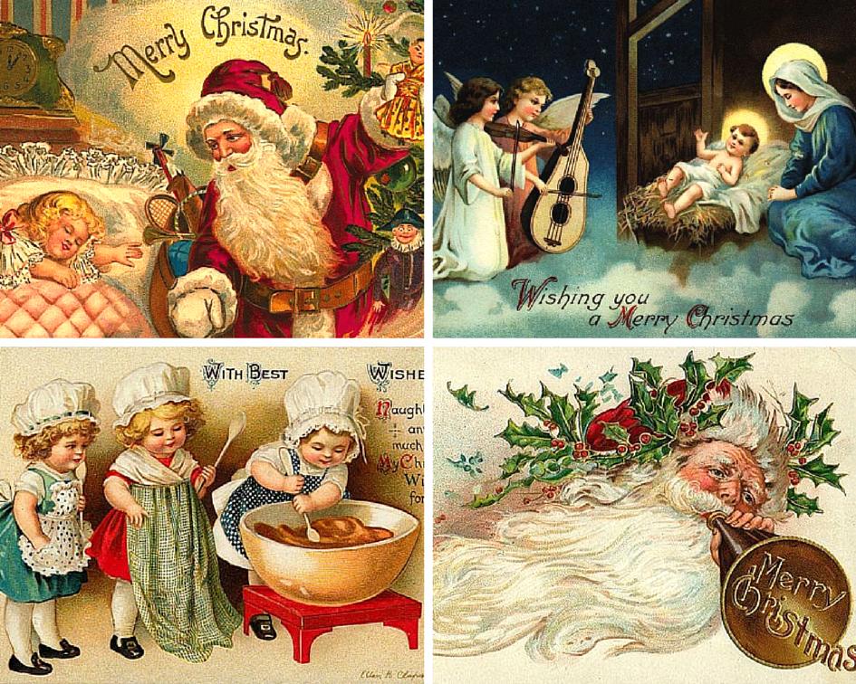 История рождественская открытка, привет подруга