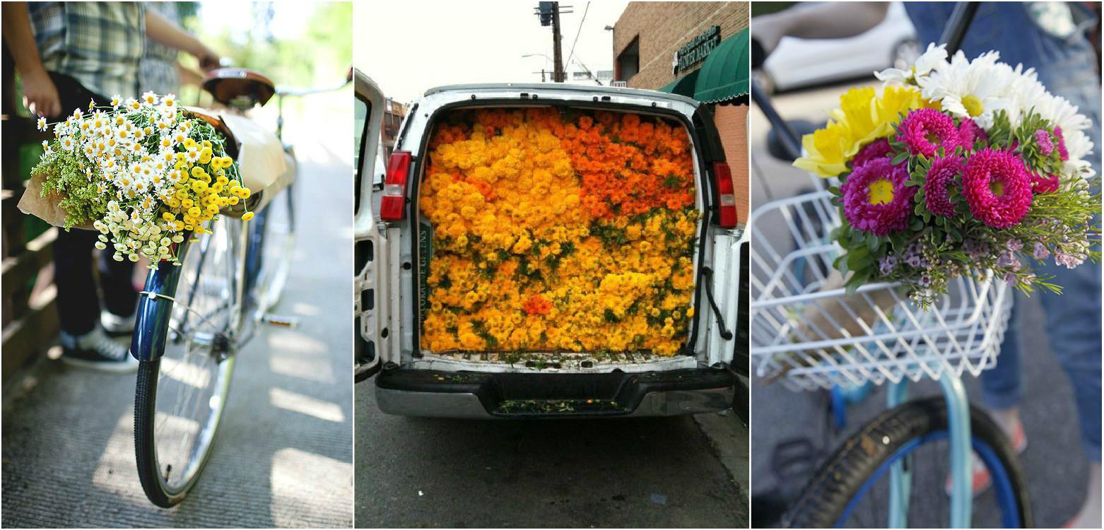 Доставка цветов на своем авто работа