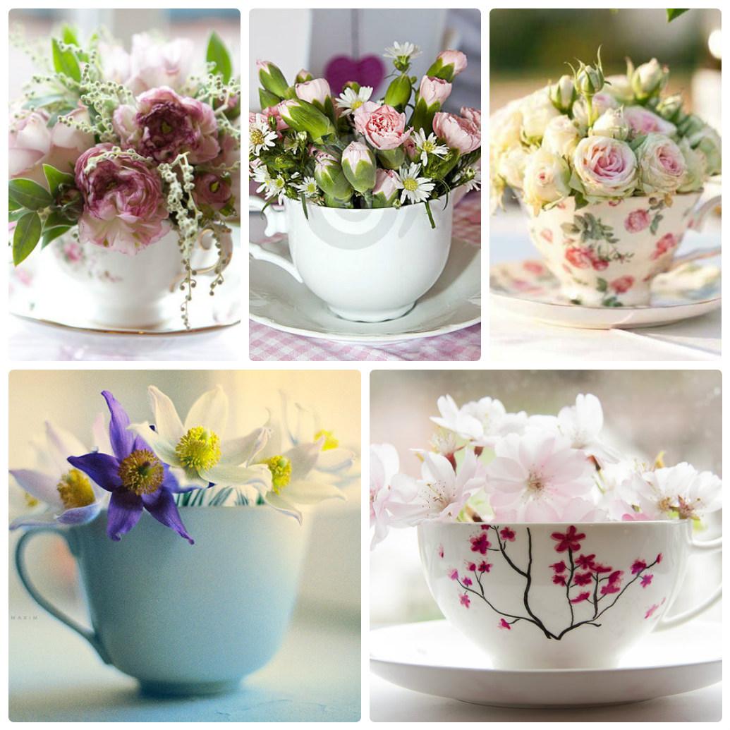 Цветы в кружке своими руками