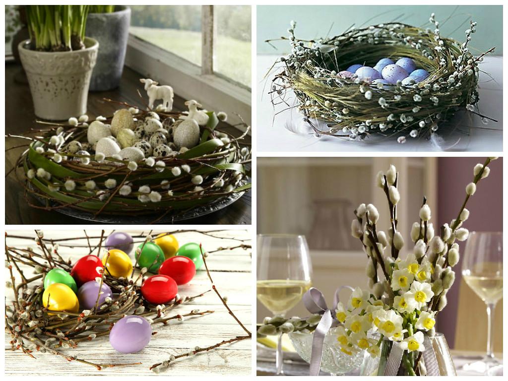 Картинки по запросу корзинка  весенних цветов с вербой