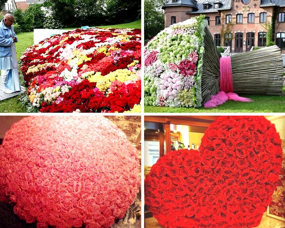 Свадебный букет, огромный большой букет цветов в мире