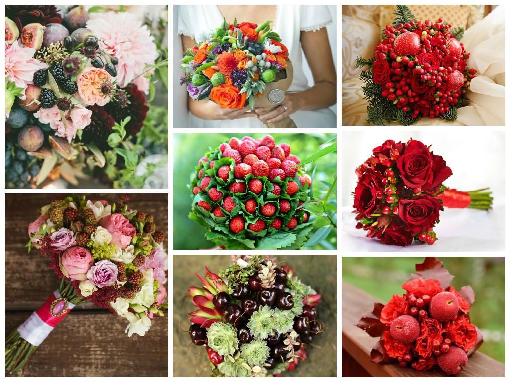 Свадебный букет с ягодами