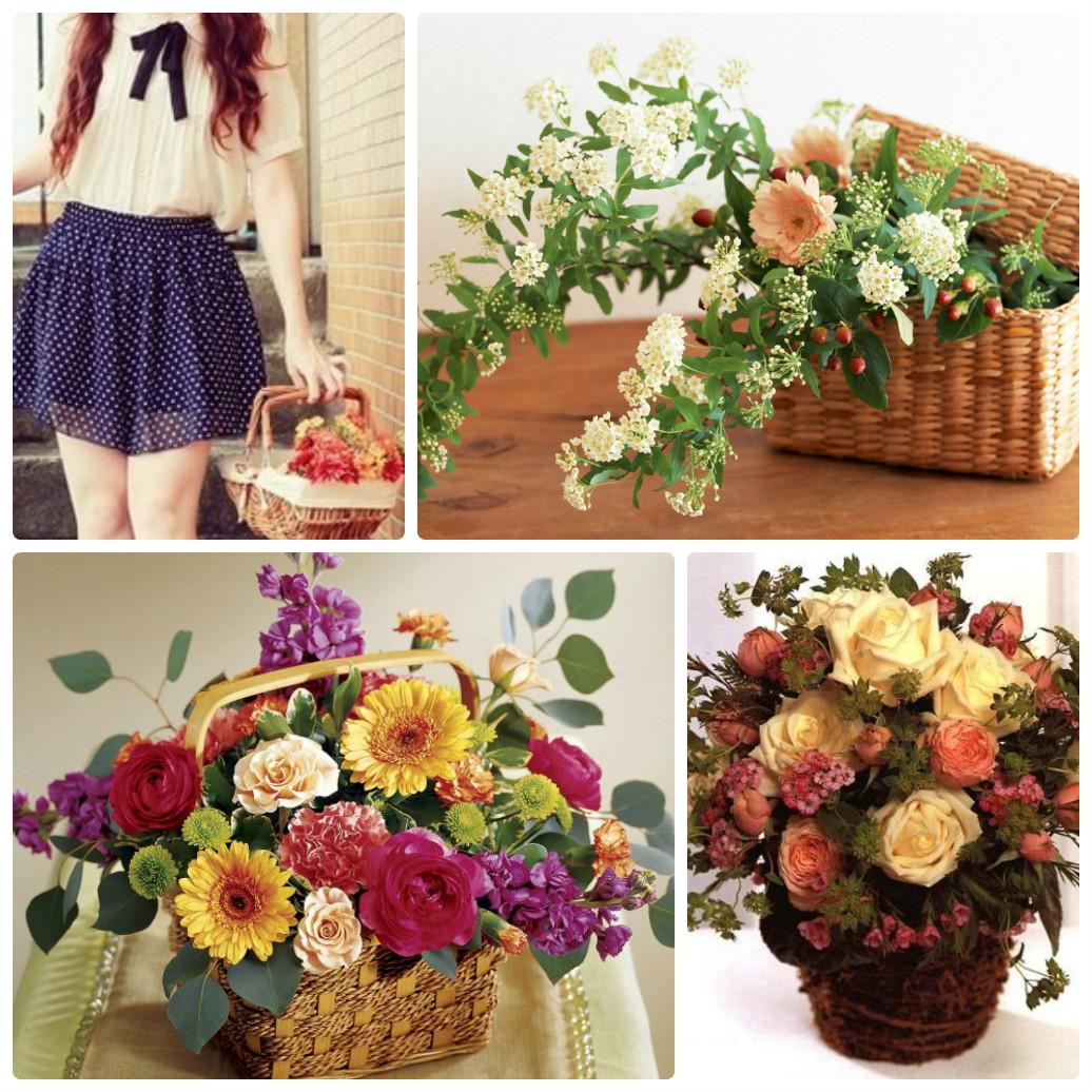 Как сделать корзинку с цветами фото 315